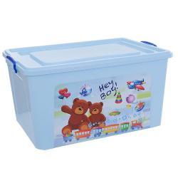 Ящик для игрушек, 80 л, голубой