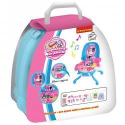 Набор игровой в розовом чемоданчике Bondibon Парикмахер-визажист, 27 деталей