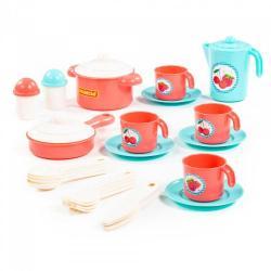 Набор детской посуды Настенька на 4 персоны, 28 элементов