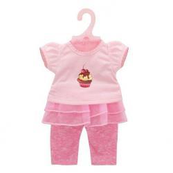 Одежда для кукол 38-43 см Футболка и штанишки. Карамель