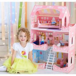 Кукольный домик Адель Шарман (с мебелью)