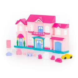 Кукольный домик София с набором мебели и автомобилем (14 элементов)