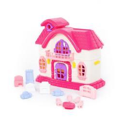 Кукольный домик Сказка с набором мебели (12 элементов)
