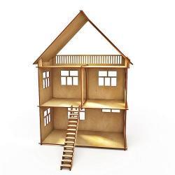 Кукольный домик без мебели (арт. HK-D009)