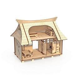 Домик Сакура с мебелью, 35x43x32 см