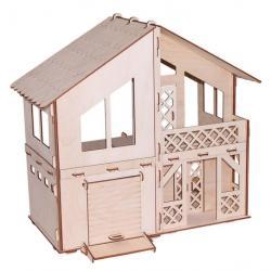 Кукольный домик Я дизайнер. Дачный домик с гаражом