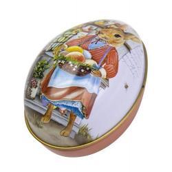 Шкатулка детская металлическая Тайна 2, овал, 6.3х4.4х5.1 см