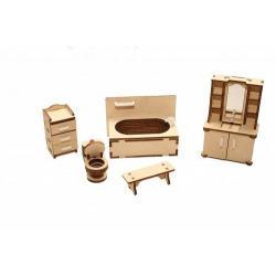 Набор кукольной мебели Ванная