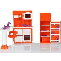 Кухня для кукольного домика Конфетти