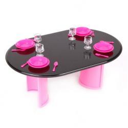 Игровой набор Стол с аксессуарами, цвет розовый