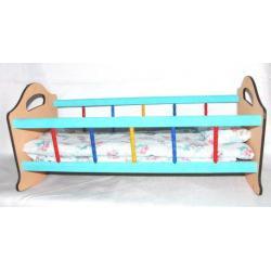 Кровать для кукол деревянная (большая)