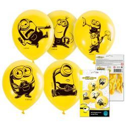 Воздушные шарики Миньоны 2, 30 см (5 штук) (количество товаров в комплекте 5)
