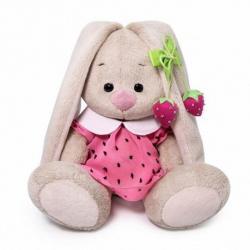 Зайка Ми в розовом платье с клубничкой, 15 см
