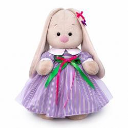 Мягкая игрушка Зайка Ми, в полосатом платье, 25 см