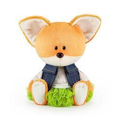 Мягкая игрушка Лисичка Лика в юбке и безрукавке, 15 см