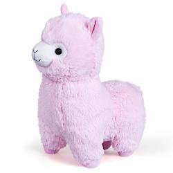 Мягкая игрушка Альпака, 25 см, розовая