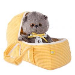 Мягкая игрушка Басик BABY в люльке, 20 см