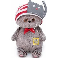 Мягкая игрушка Басик Baby в шапочке с котиком, 20 см