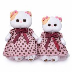 Мягкая игрушка Ли-Ли, в розовом платье в горох, высота 27 см