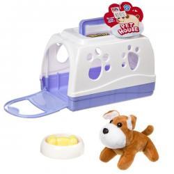 Игрушка Щенок в будке-переноске с миской и косточкой