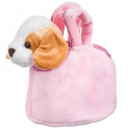 Собачка в розовой сумке Bondibon Милота. Бигль c ошейником и поводком, 20 см, арт. LEO20-508
