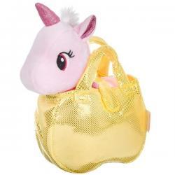 Крылатый единорог в золотистой сумке Bondibon Милота (цвет розовый)