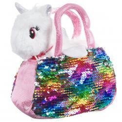 Крылатый единорог в сумке с пайетками Bondibon Милота (цвет белый)