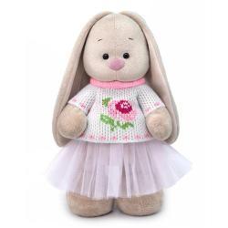 Мягкая игрушка Зайка Ми в жаккардовом свитере и юбке, 32 см