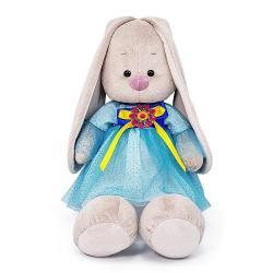 Мягкая игрушка Зайка Ми в платье с брошкой, 34 см
