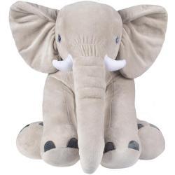 Мягкая игрушка Слон Элвис, серый