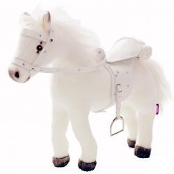Белая лошадь, с седлом и уздечкой, со звуком