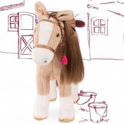 Лошадь белая с расческой Gotz