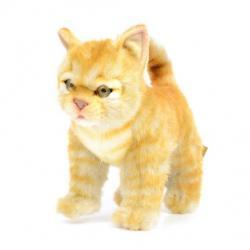 Котёнок стоящий рыжий (30 см)