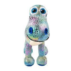 Игрушка мягконабивная Динозавр Даки, блестящий