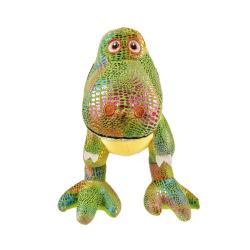 Игрушка мягконабивная Динозаврик Икки, блестящий