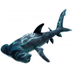 Мягкая игрушка Акула-молот, синяя, 100 см