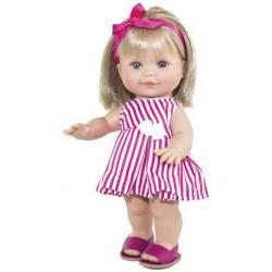 Кукла Бетти в платье в полоску