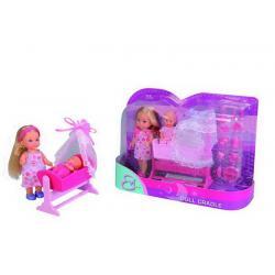 Кукла Еви с пупсом в колыбельке