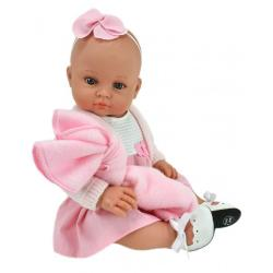 Пупс Алисия, в бело-розовом платье, с ободком, 47 см