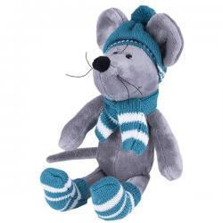 Мягкая игрушка Мышь в шапке, 26 см