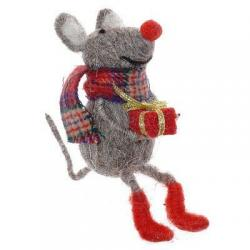 Фигурка декоративная Мышка, 13х7х9 см
