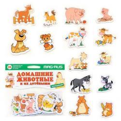 Игра магнитная Домашние животные и их детеныши, 24 элемента