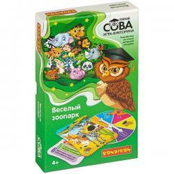 Игра викторина Bondibon Умная Сова. Весёлый зоопарк