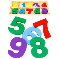 Деревянная игрушка. Учимся считать, касса Весёлые цифры (арт. AN02770)