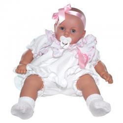 Пупс Бобо, в одежде с розовыми оборками