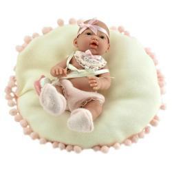 Пупс-мини Новорожденный, в розовом, с подушкой (в коробке)