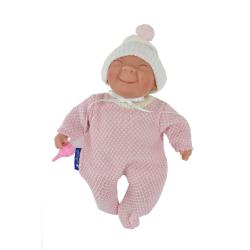 Пупс Каритас, 23 см, в розовой пижамке, с закрытыми глазами (в пакете)